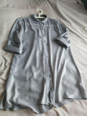 Tunika, bluzka srebrna, r. 38 uk12