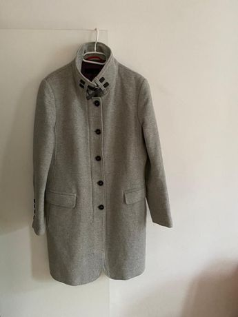 Cinque płaszcz szary elegancki wełna 80% van graaf