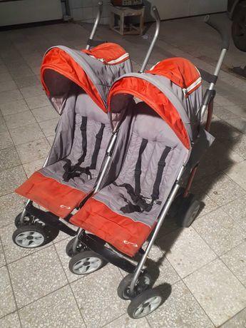 Wózek bliźniaczy DUO COMFORT, parasolka