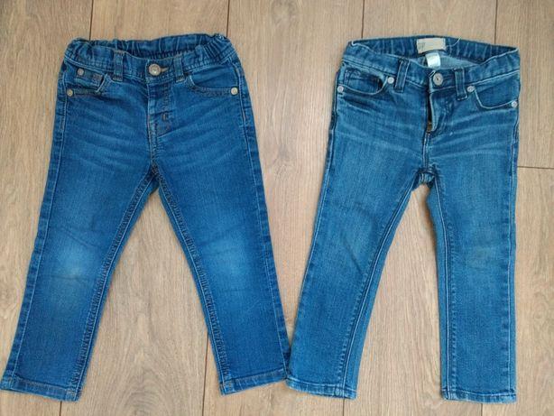 Spodnie jeansowe jeansy dziewczęce r. 92