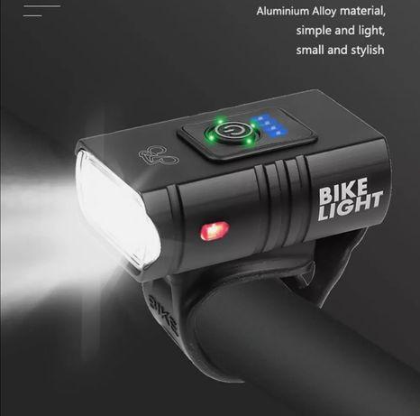 luz farol LED bicicleta Iluminação noturna 800LM  USB Recarregável