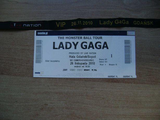 Starocie z PRL - Bilet VIP na koncert Lady Gaga Gdańsk 26.11.2010r.
