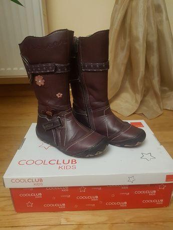 Buty zimowe skórzane ocieplane Cool Club roz. 28, 29
