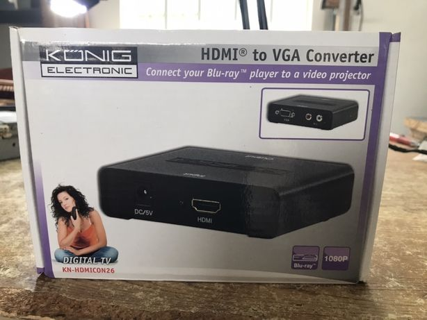 Vende-se aparelho HDMI to VGA (conversor)