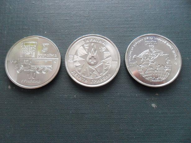 """Монети КрАЗ-6322 """"Солдат"""", Учасникам бойових дій, На варті життя 10грн"""