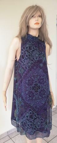 Comma z Van Graaf - leciuteńka jedwabna sukienka - 40/42