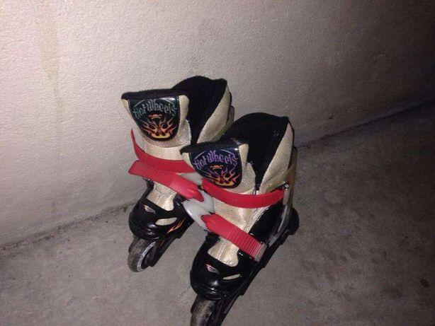 Novo Preço - patins em linha Hot Whells!