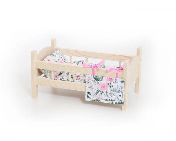 Łóżeczko dla lalek + pościel (5 elementów)