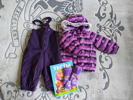 Lenne! Зимний комплект, костюм (86+6 см), курточка + полукомбинезон