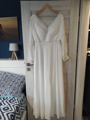 Suknia ślubna boho rustykalna merida rozmiar 42
