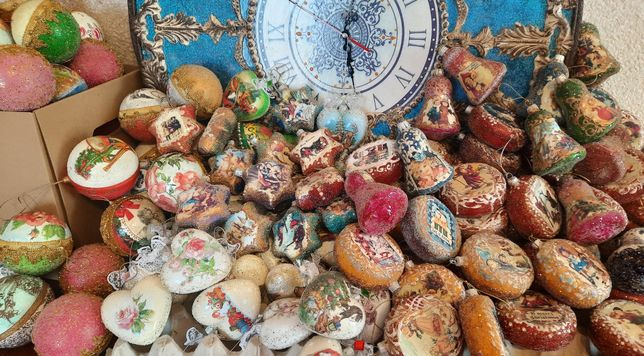 Елочные игрушки,колокольчик,звёздочка,медальон,новогодние игрушки,шары