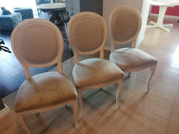 Krzesła ludwikowskie 3 sztuki
