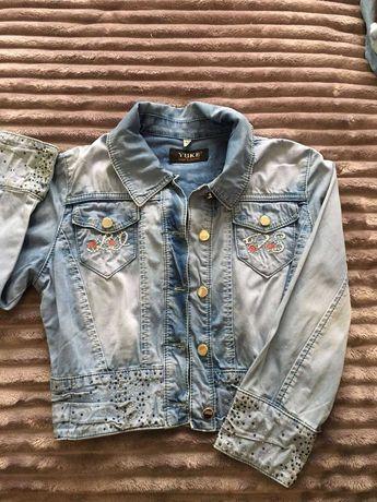 Джинсовий піджак для дівчинки