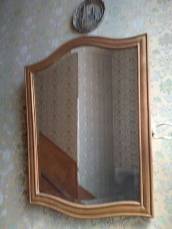 Espelho emoldurado a Madeira