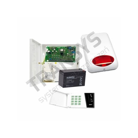 Alarm Satel CA6 zestaw alarmowy do 8 czujek domek garaż warsztat firma