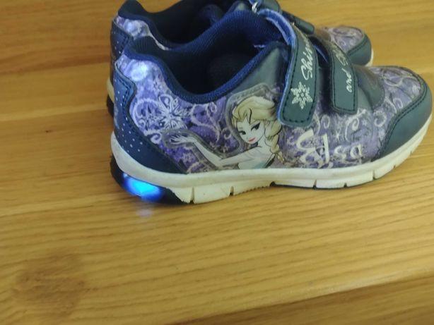 Jak nowe CCC świecące Elsa adidasy buty dla dziewczynki 30