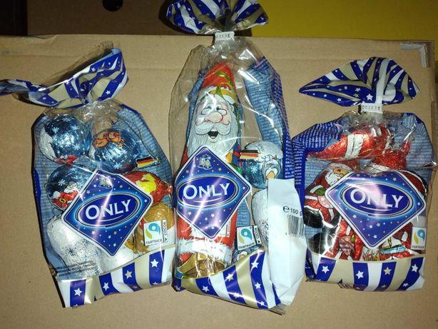 Шоколадні Діди Морози/ялинкові прикраси/ Санта Клауси Only 100 гр