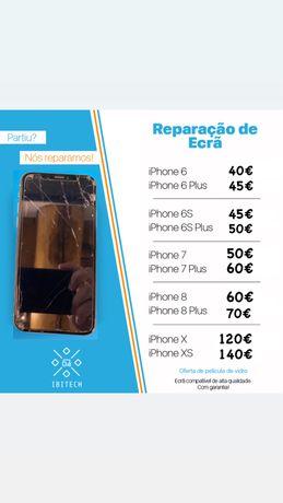 Reparação ecrã Iphone