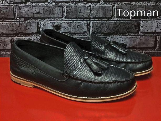 Кожаные лоферы Topman мокасины туфли