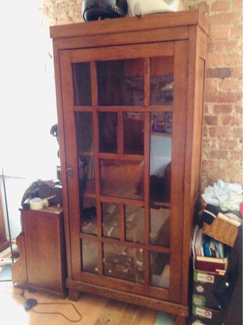 Kredens biblioteczka vintage, drewniana, stary mebel, stare meble