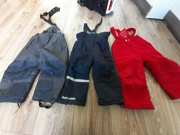 Spodnie  narciarskie 3 szt roz. 92