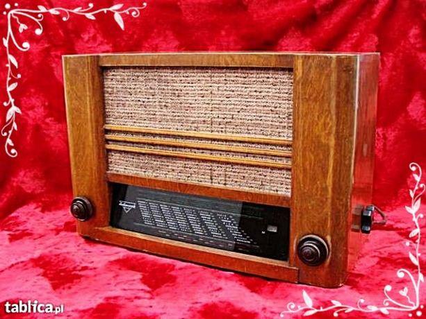 Kolekcjonerskie stare radio lampowe Olympia 502W Sachenwerk Powojenne!