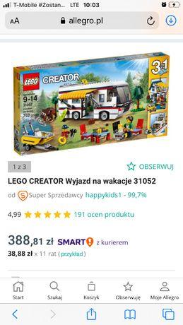 Lego Creator wyjazd na wakacje kamper 31052