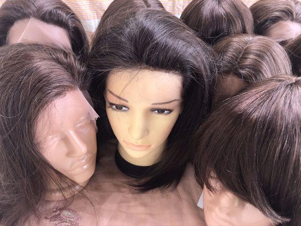 Новый 100% натуральный реалистичный парик Реми шатен брюнет 40см л
