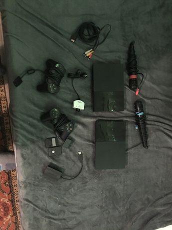 2x Sony PlayStation 2 Slim i akcesoria