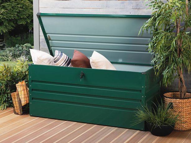 Caixa de arrumação em aço verde escuro 132 x 62 cm CEBROSA - Beliani