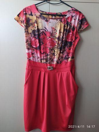 Суперовое платье, летнее с карманами, 46-48 размер
