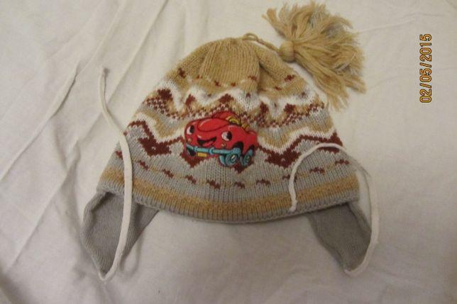 Очень теплая зимняя шапка на 3-6 лет