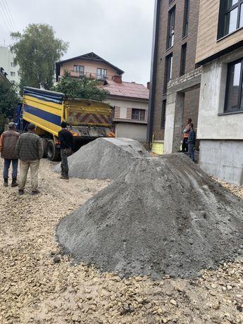 Гранійний відсів, щебінь, камінь, пісок! Екскаватор
