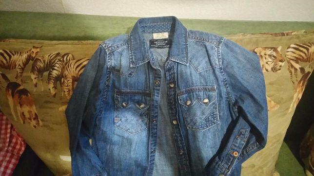 Джинсовая рубашка ZARA, Kids размер 116