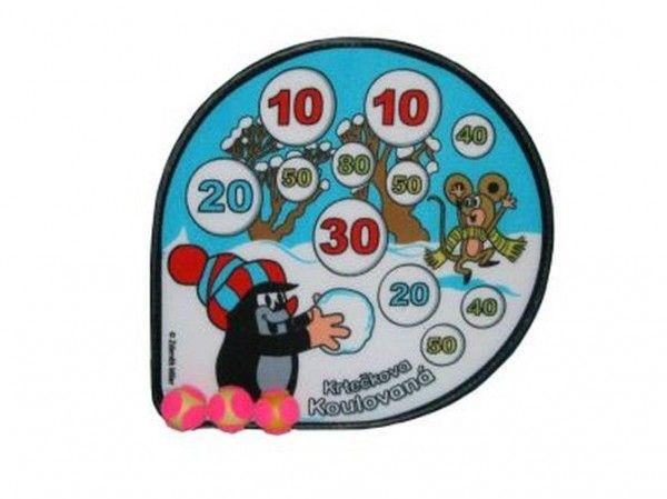 Gra zręcznościowa planszowa rzutki piłki na rzep Krecik