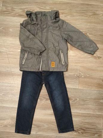 Осенний комплект ветровка джинсы 98