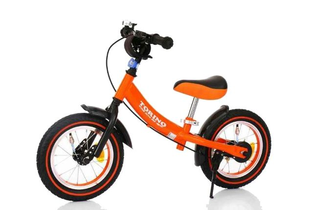 Беговел TORINO TSFL-004 Оранжевый на надувных колесах