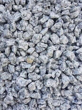 Grys granitowy 8/16 mm, dalmatyńczyk, jasny grys, kamień do ogrodu