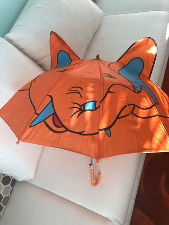 Парасолька дитяча з вушками Слоник оранжева