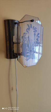 2 kinkiety ścienne szkło vintage E14 żarówki gratis
