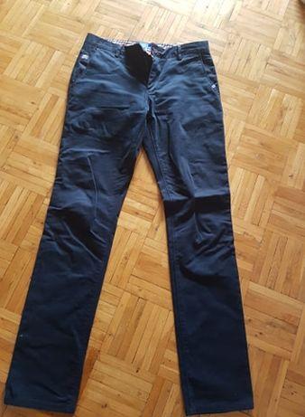 Spodnie materiałowe granatowe