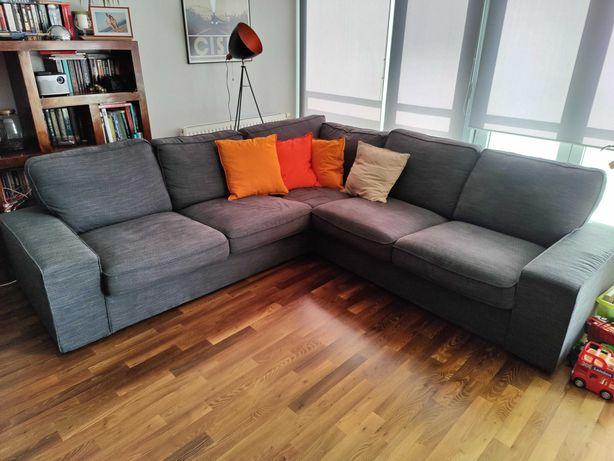 Nowoczesna sofa kanapa narożnik Ikea Kivik 257x257 antracyt
