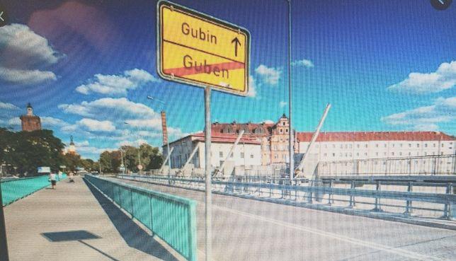 Hala z działką własną można na dom Guben Gubin od granicy 1km.