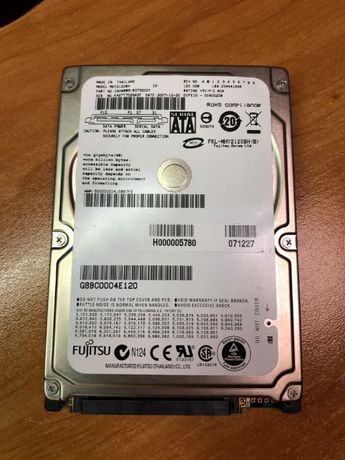 "Disco Fujitsu 2,5"" 120GB como novo"
