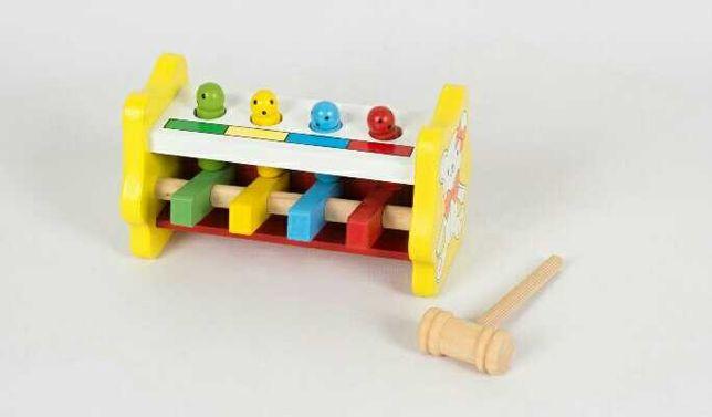 Новая стучалка деревянная забивалка молоток молоточек подарок ребенку