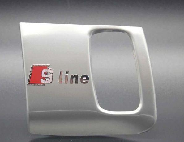 Aplicação s-line aluminio para ignição (chave) Audi A4 (8K) B8 , A5 e