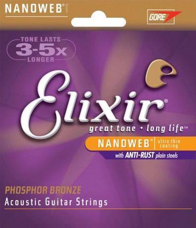 J. Cordas Guitarra Acústica 11/52 - Elixir 16027