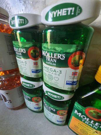 Омега-3 Möller's, Вітаміни А,B,C,D,E, мульті Вітаміни