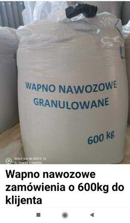 Wapno nawozowe granulowane transport od 600kg