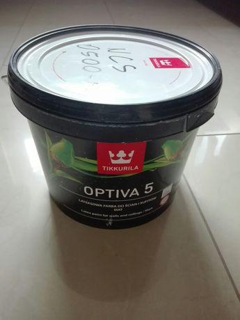 Farba lateksowa Tikkurila Optiva 5 Mat, 2,7 l, B. JASNY SZARY 0500-N